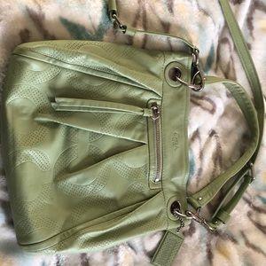 Sage green Coach crossbody bag
